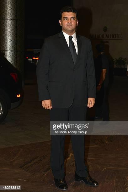 Siddharth Roy Kapoor at the wedding reception of Shahid Kapur and Mira Rajput in Mumbai