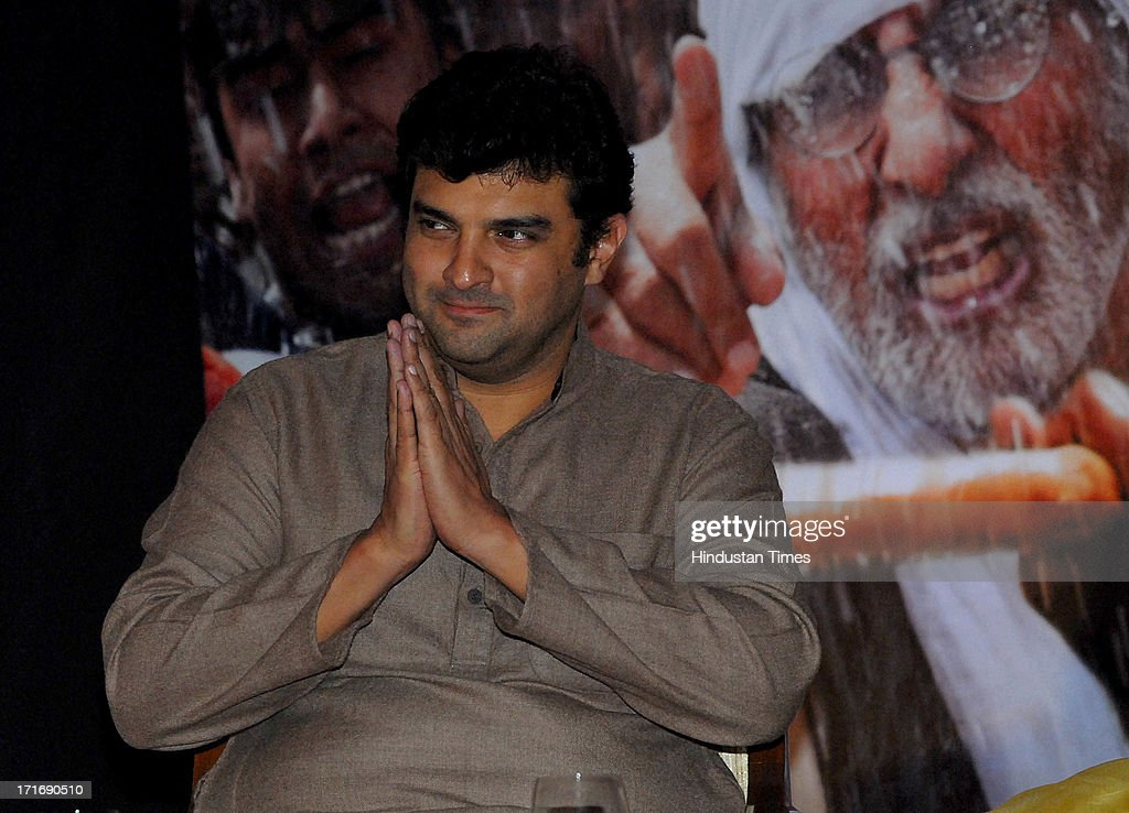 <a gi-track='captionPersonalityLinkClicked' href=/galleries/search?phrase=Siddharth+Roy+Kapur&family=editorial&specificpeople=6236847 ng-click='$event.stopPropagation()'>Siddharth Roy Kapur</a>, Bollywood film producer and the CEO of UTV Motion Pictures during the theatrical trailer release of film Satyagraha at Taj Lands End, Bandra on June 26, 2013 in Mumbai, India. Satyagraha Democracy Under Fire is an upcoming Bollywood political thriller film directed by Prakash Jha starring Amitabh Bachchan, Ajay Devgn, Kareena Kapoor, Arjun Rampal, Manoj Bajpai, Amrita Rao and Vipin Sharma in the lead roles. The Bollywood political thriller film is slated to release on August 21, 2013.
