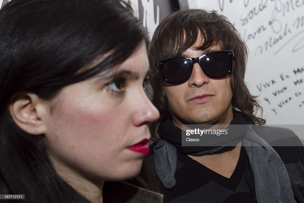Siddhartha and Javiera Mena look on during a press conference to announce their performance at the Lunario on December 4, 2012 in Mexico City, Mexico.