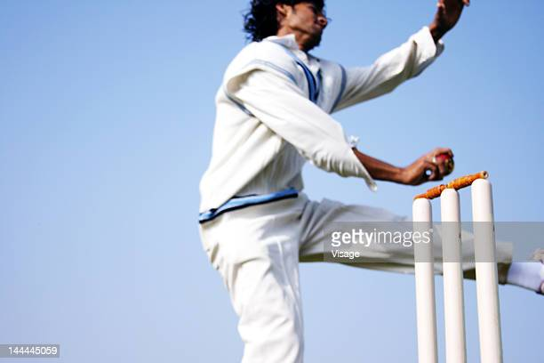 Side angle view of a bowler