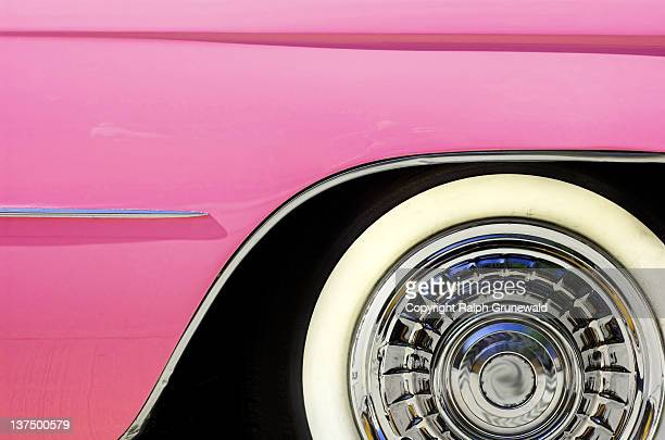 Side of pink cadillac