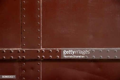 Side of Train with Rivets : Stock Photo