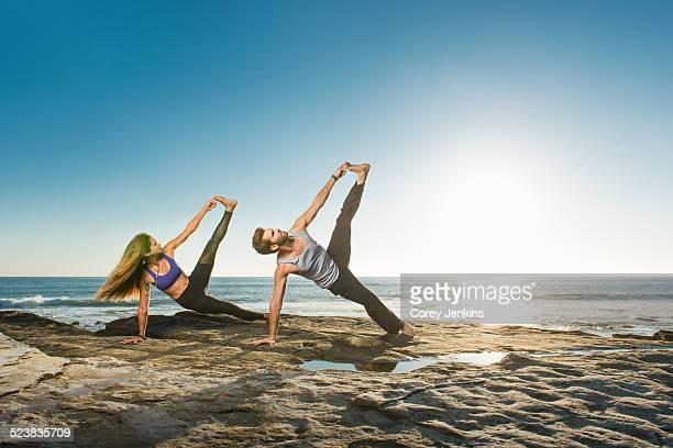 Side Plank Pose - Vasisthasana, Windansea beach, La Jolla, California