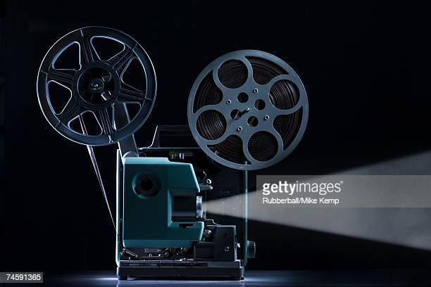 Side profile of movie projector