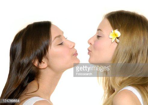 young lesbians kissing