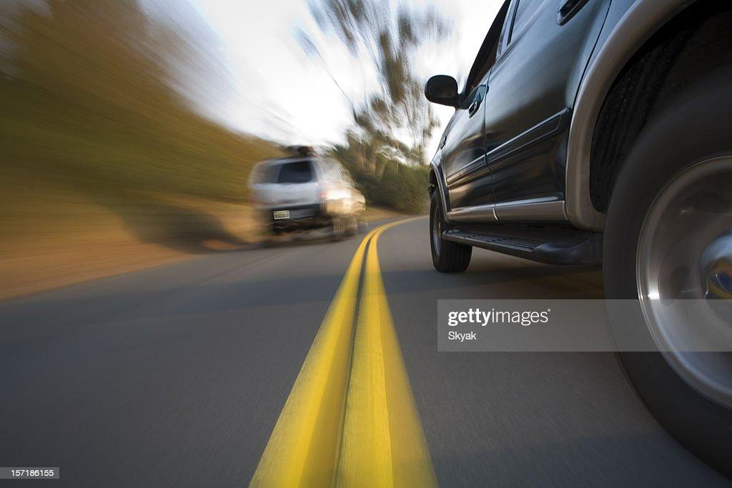 SUV side shot in corner
