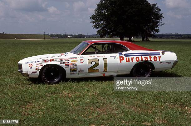 Side shot of David Pearson's Mercury taken in August 1984 from the collection of the International Motorsports Hall of Fame at the Talladeaga...
