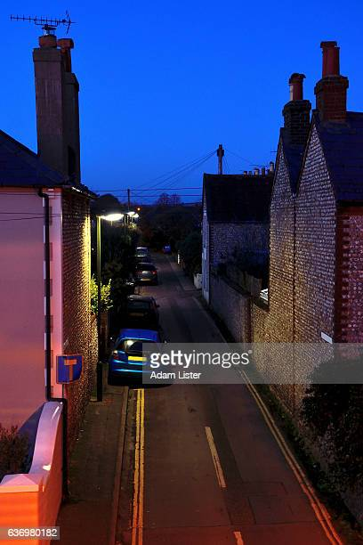 Side street blue hour