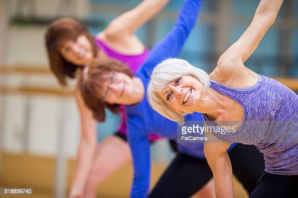 Side Stretch in a Fitness Class