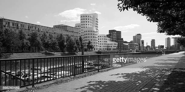 Side view Media harbor Dusseldorf