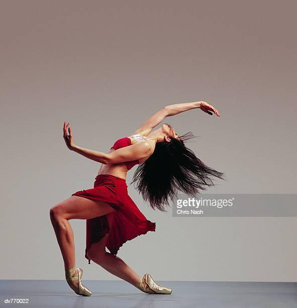 Side View of a Hispanic Ballerina