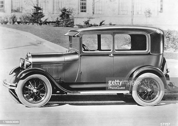 Side view of a Model A Ford which succeeded the Model T on the market 1928 It was the first Ford with a standard gear shift