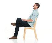 Charming man seated