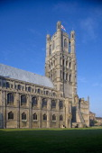 Side view of Ely cathedral Cambdridgeshire United Kingdom