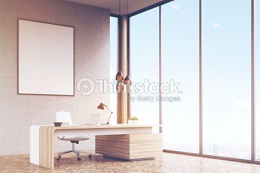Office Framed Poster Toned Stock Photo
