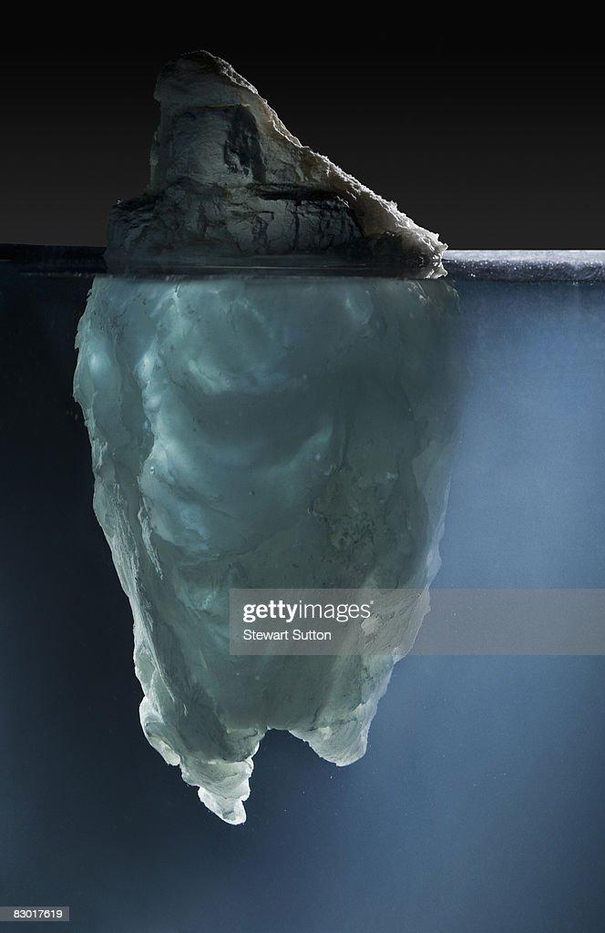 side view of model iceberg