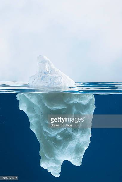 side view of model iceberg