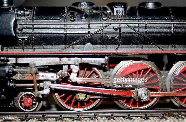 Side view of model steam train