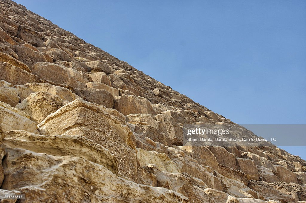 Side view of the great pyramid : Stock Photo