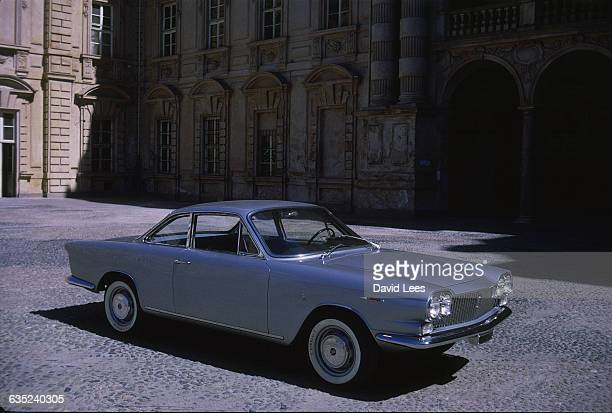 Side view of the Lancia Flavia motor car designed by Pininfarina 1962