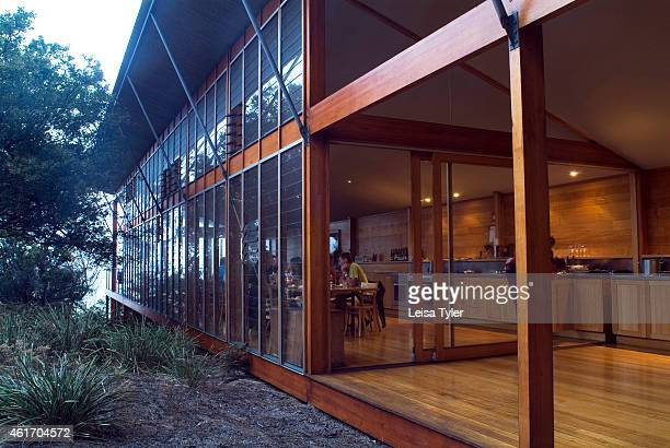 A side view of The Lodge an ecofriendly and sustainable hotel owned by Cradle Mountain Lodge in Tasmania An ecotourism company specializing in guided...