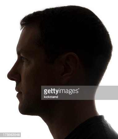 Side view portrait of man's face