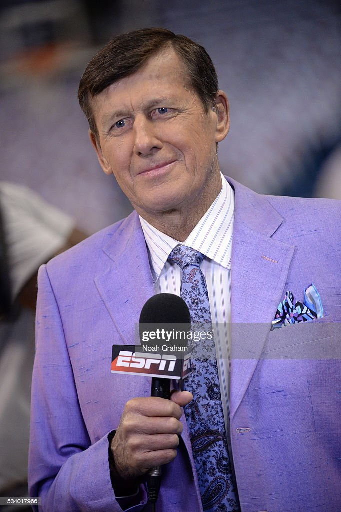 TNT sideline reporter Craig Sager speaks prior to Game Four of the Western Conference Finals between the Golden State Warriors and Oklahoma City Thunder during the 2016 NBA Playoffs on May 24, 2016 at Chesapeake Energy Arena in Oklahoma City, Oklahoma.