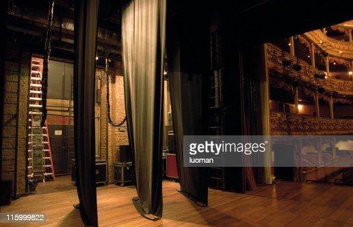 Side-scenes of a classical theatre