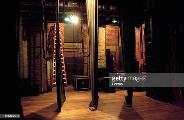 Den-Kulissen eines theatre