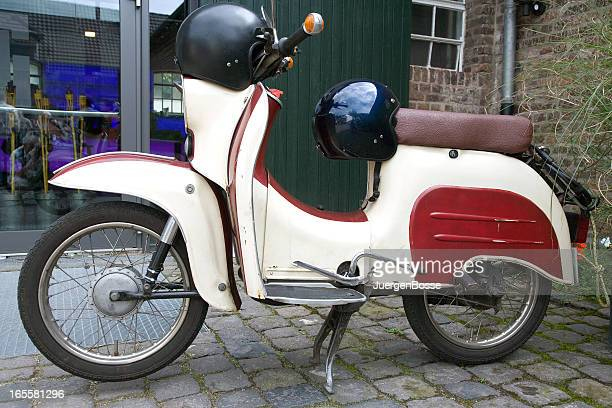 Sideview of a moped oldtimer