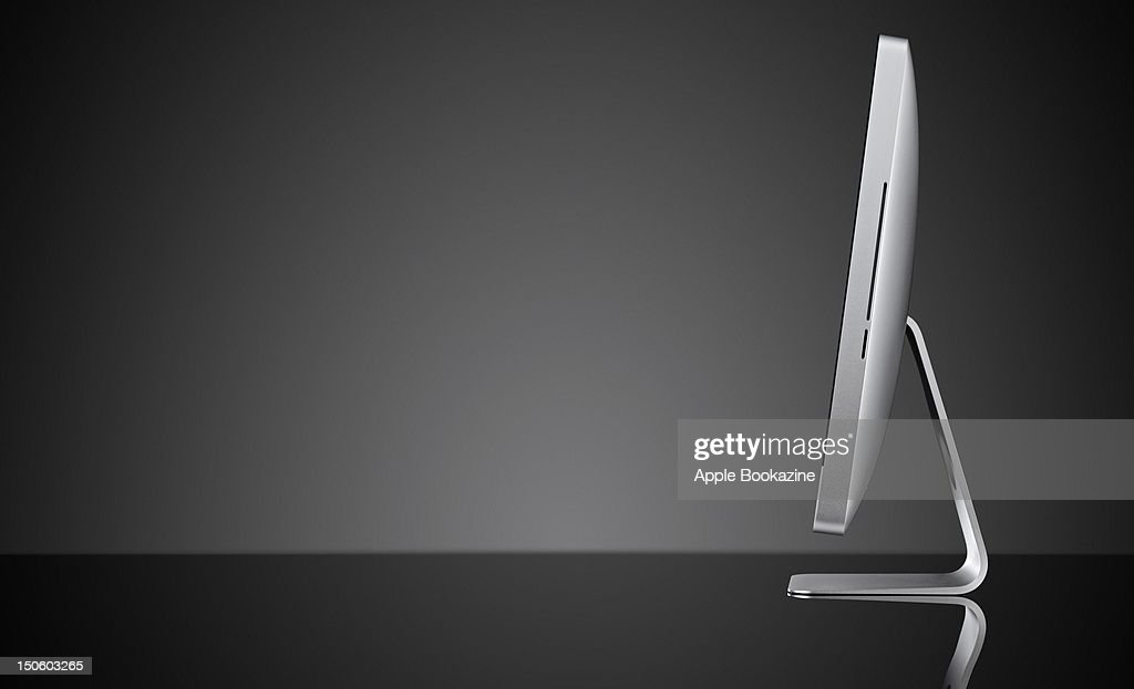 Side-view of an Apple iMac, session for Apple Bookazine taken on September 6, 2011.
