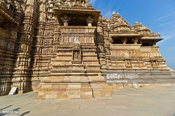 Sideview of Kandariya Mahadeva Temple, Khajuraho, Chhatarpur District, Madhya Pradesh, India