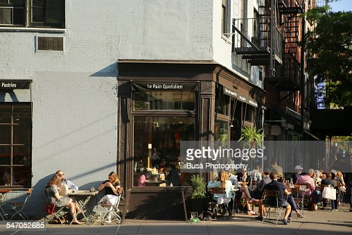 Sidewalk cafe in the West Village