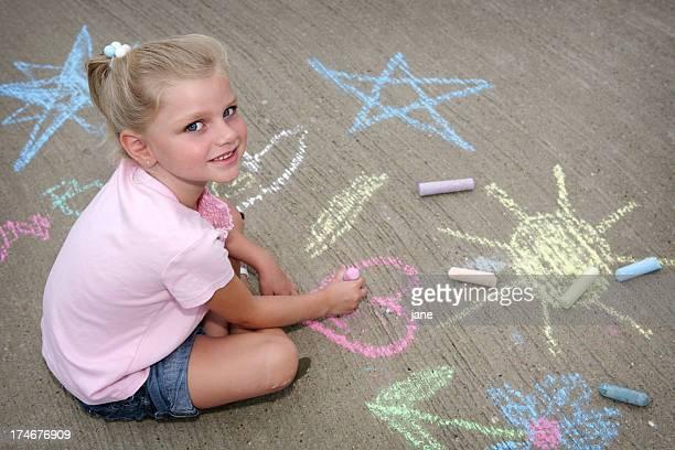 Gehweg Chalk