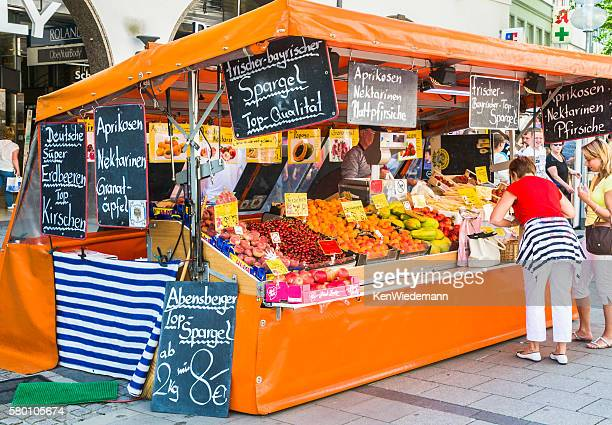 Sidewalk Produce Stand