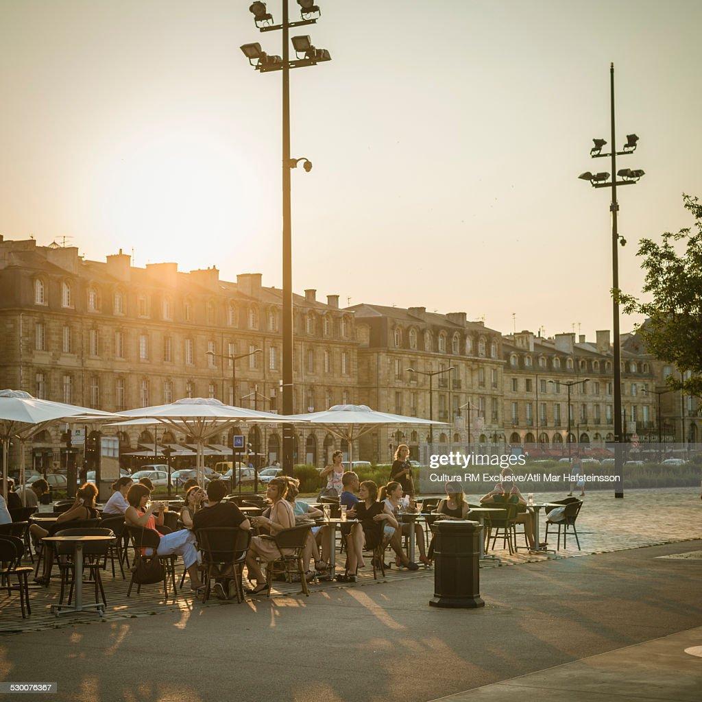 Sidewalk restaurant, Bordeaux, Aquitaine, France