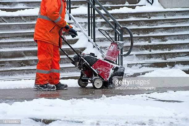 Marciapiede rimozione neve