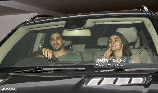Sidharth Malhotra and Alia Bhatt at Karan Johar's party in Mumbai