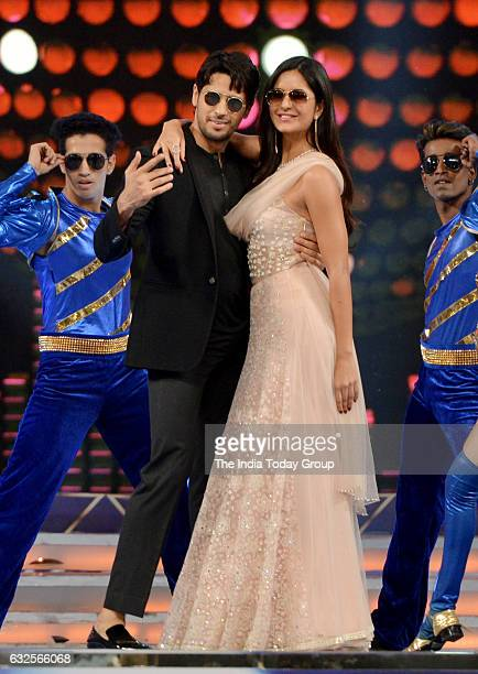 Sidharth Malhotra and Katrina Kaif during the Umang Mumbai Police Show 2017 in Mumbai