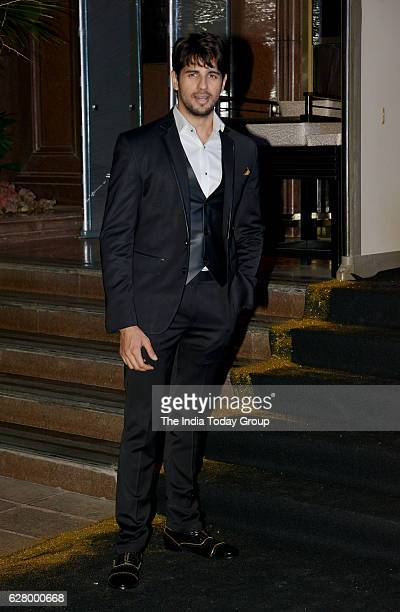 Sidharth Malhotra during the birthday celebrations of fashion designer Manish Malhotra in Mumbai