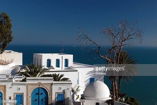 Sidi Bou-Saïd bleu et blanc de l'Architecture, la Tunisie