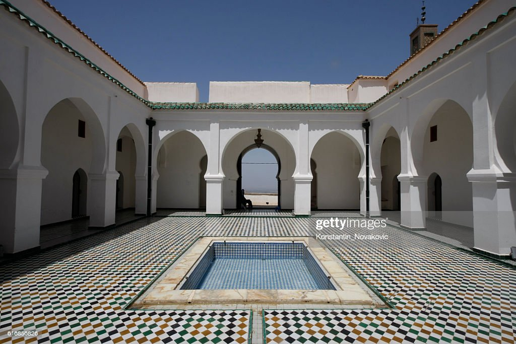 Sidi Boumediene Madrasa courtyard, Algeria : Stock Photo
