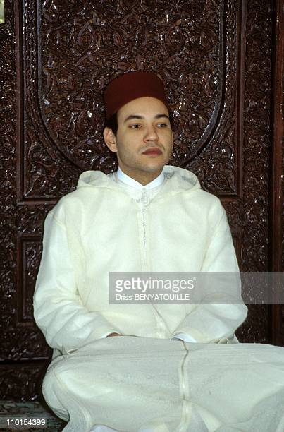 Sidi Mohammed at The allegiance ceremony of The King Hassan II at the Royal Palace in Rabat Morocco on March 27 1993