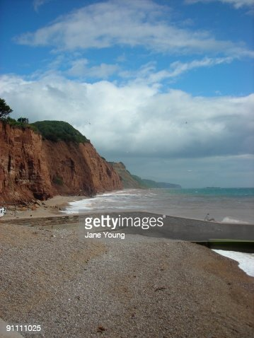 Sidmouth, east end of the beach