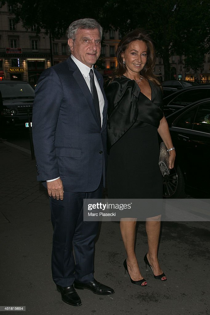 Sidney and Katia Toledano arrive to attend the Dior Private Dinner as part of Paris Fashion Week - Haute Couture Fall/Winter 2014-2015 at on July 7, 2014 in Paris, France.