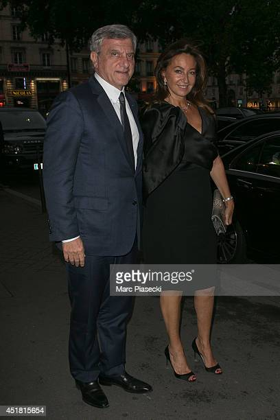 Sidney and Katia Toledano arrive to attend the Dior Private Dinner as part of Paris Fashion Week Haute Couture Fall/Winter 20142015 at on July 7 2014...