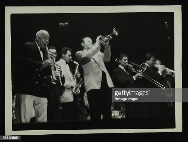 Sidney Bechet and Humphrey Lyttelton playing at Colston Hall Bristol 1956 Artist Denis Williams