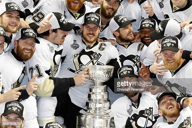Sidney Crosby and the Pittsburgh Penguins celebrate after their 31 victory to win the Stanley Cup against the San Jose Sharks in Game Six of the 2016...