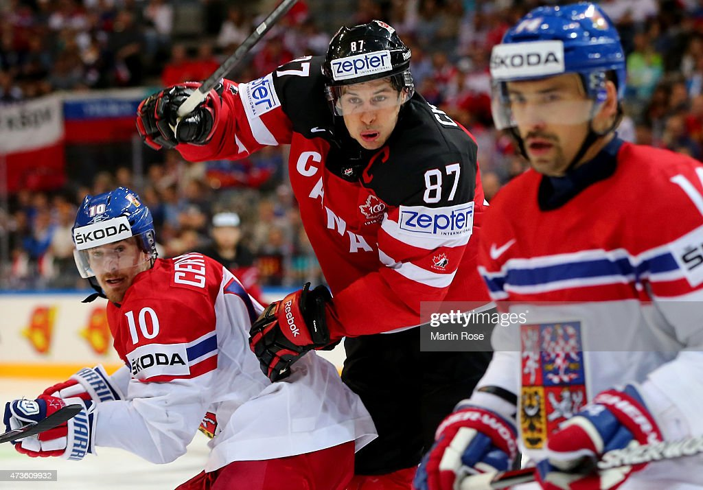 Sidney Crosby of Canada skates against Czech Republic during the IIHF World Championship semi final match between Canada and Czech Republic at O2 Arena on May 16, 2015 in Prague, Czech Republic.
