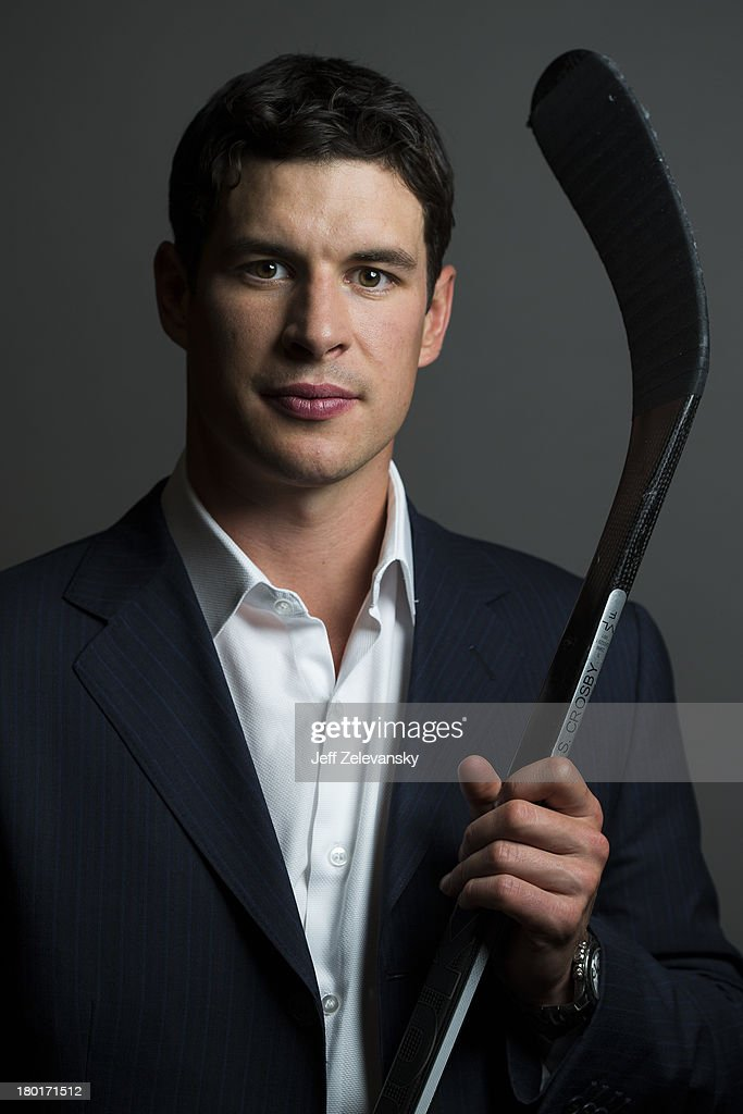 Sidney Crosby of the Pittsburgh Penguins is photographed during the NHL Media Tour at the Prudential Center on September 5, 2013 in Newark, New Jersey.